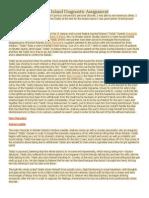 Term Paper - Shutter Island Diagnostic Assignment