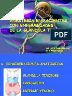 Anestesia en Patologias Tiroideas