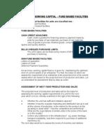 Working Capital Finance Fund Based