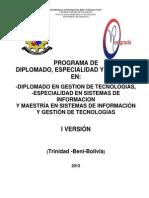 Proyecto Academico Postgrado CIS FIT 2013