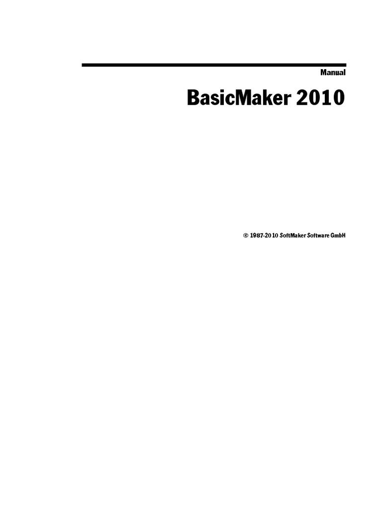 Bm2010manual En | Scripting Language | Visual Basic For Applications