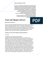 Fonts and Software Licenses