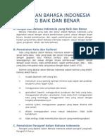 Pemakaian Bahasa Indonesia Yang Baik Dan Benar