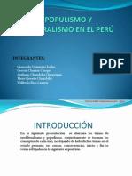 EL POPULISMO Y NEOLIBERALISMO EN EL PERÚ