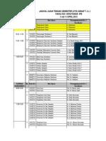 Jadwal Uts Genap t.a 2012-2013 Final 27 Maret 2013 Email