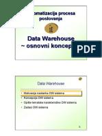 Data Warehouse osnovni koncepti
