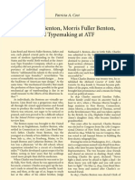 Linn Boyd Benton, Morris Fuller Benton, and Typemaking at ATF