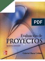 Evaluacion de Proyectos 5ta Ed. - Gabriel Baca Urbina
