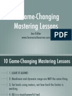10 Game-Changing Mastering Lessons