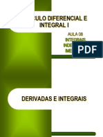 CDI I - Aula 08 - Integrais Indefinidas Imediatas