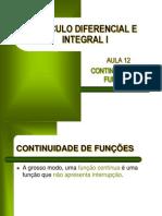 CDI I - Aula 12 - Continuidade de Funções (1)