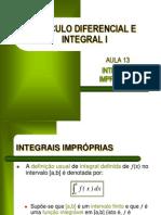 CDI I - Aula 13 - Integrais Impróprias