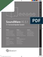 Boston Acoustics SoundWareXS 51 Manual