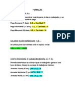 Formulas Pra Suledos y Salarios