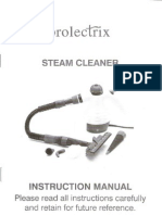 Prolectrix Steam Cleaner Instruction Manual 2008-Jan