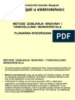 07 - Dobijanje Monokristala, Planarna Integrisana Kola