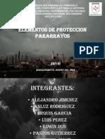 Elementos de Proteccion Pararrayos