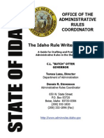 Idaho State Rule Draft Manual