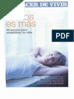 El Arte de Simplificar La Vida- Revista Psicologia Practica, Enero 07