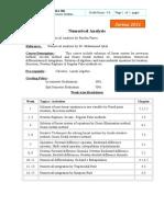 Numerical Analysis MA306