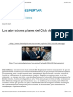 Los Aterradores Planes Del Club de Los 300 | LA HORA de DESPERTAR