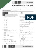 Gabarito livro 1 Geometria Ari de Sá 9 ano