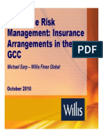 Insurance Risk Management Insurance Requirements in the GCC by Michael Earp WILLIS