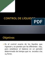 CONTROL DE LÍQUIDOS