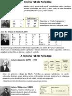 A Tabela Periódica - História e Organização