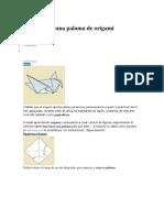 Cómo hacer una paloma de origami