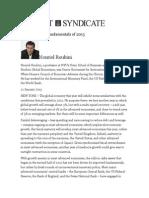 The Economic Fundamentals of 2013