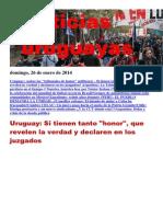 Noticias Uruguayas Domingo 26 de Enero Del 2014
