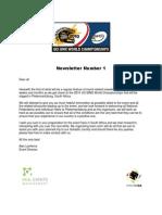 BMX 10 - Newsletter 1