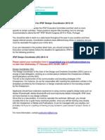 Call for Design Coordinator 2013-14