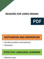 Reasons for Using Drama