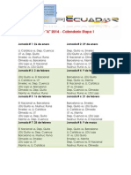Serie a Primera Etapa 2014