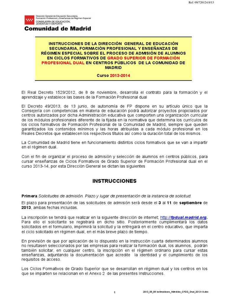 2013 08 14 Cm Instrucciones Admision Cfgs Dual 2013 14 1