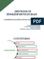 Acreditacion de Servicios de Salud, La Experiencia Mexicana