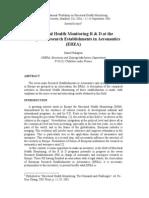 Structural Health Monitoring R & D at the European Research Establishments in Aeronautics (EREA) rd 2001 Balageas