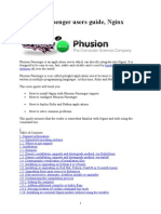 Phusion Passenger Users Guide