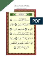 Tafseer of Surah Al Fatihah