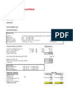 Build Up Rate Format - Plastering