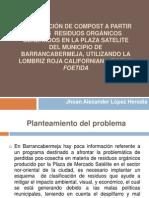 ELABORACIÓN DE COMPOST A PARTIR DE LOS  RESIDUOS ORGANICOS-COSTOS