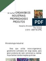 1 Micro-Organismos Industriais Propriedades e Produtos
