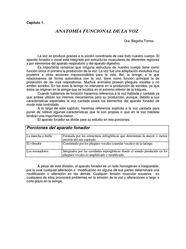 Anatomía funcional de la Voz - Dra. Begoña Torres.pdf