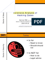 Forensics Analysis of Hacking Cases From Doctor of Security System