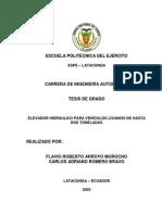T-ESPEL-0169-ELEVADOR HIDRÁULICO PARA VEHÍCULOS LIVIANOS