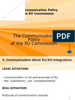 Communication Policy of the European