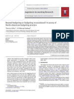Beyond Budgeting or Budgeting Reconsidered? a Survey of North-American Budgeting Practice