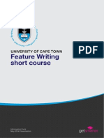 Uct Feature Journalism Course Information Pack